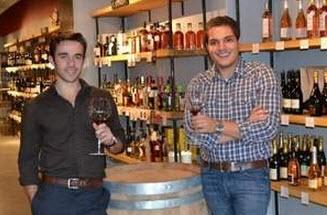 Cambridge Wines owners Anthony Dinelli and David Bernat. / Courtesy of Cambridge Wines
