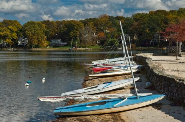 Boats at Island Beach - Mountain Lakes